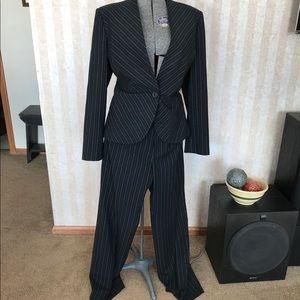Preston & York Pinstriped Pantsuit
